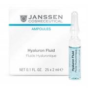 """Сыворотка """"Janssen Cosmetics Ampoules Hyaluron Fluid ультраувлажняющая"""" 7 х 2мл с гиалуроновой кислотой"""