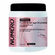 """Маска """"Brelil Professional Numеro Illuminating Mask With Precious Oils"""" 1000мл для бриллиантового блеска волос с маслом арганы и макадамии"""