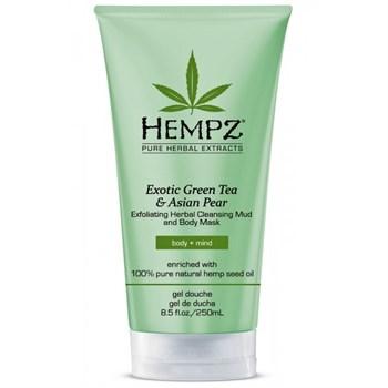"Маска-глина ""Hempz Exotic Green Tea & Asian Pear Exfoliating Herbal Cleansing Mud and Body Mask растительная, отшелушивающая"" 200мл - фото 62800"