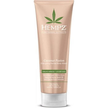 "Гель ""Hempz Coconut Fusion Energizing Herbal Body Wash Бодрящий Кокос"" 250мл для душа - фото 63040"
