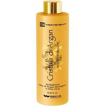 BRELIL Professional Bio Traitement Cristalli di Argan Shampoo - Шампунь для волос с маслом Аргании и Алоэ 250 мл - фото 66230