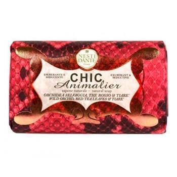"""Мыло """"NESTI DANTE CHIC ANIMALIER Red Python  Розовый Питон (очищение и расслабление)"""" 250мл - фото 70060"""