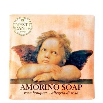 """Мыло """"NESTI DANTE AMORINO SOAP Rose bouquet  Букет Роз (очищение и расслабление)""""  150мл - фото 70293"""