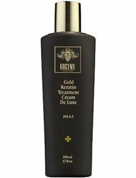 Greymy Gold Hair Keratin Treatment De Luxe - Кератиновый крем для выпрямления с частицами золота 500мл - фото 73504