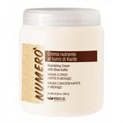 """Крем """"Brelil Numero Shea Buter Cream Avacado питательный"""" 1000мл с маслом каритэ и авокадо для волос"""
