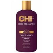 """Шампунь """"CHI Deep Brilliance Olive & Monoi Optimum Moisture Shampo"""" 355мл увлажняющий для поврежденных волос"""