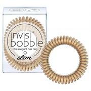 Invisibobble SLIM Bronze Me Pretty - Резинка-браслет для волос, цвет Мерцающий бронзовый 3шт