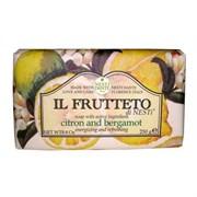 "Мыло ""NESTI DANTE IL FRUTTETO Citron & Bergamot  Лимон и Бергамот"" 250мл"