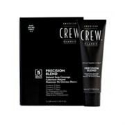 American Crew Precision Blend - Краска для седых волос темный оттенок 2-3, 3*40 мл