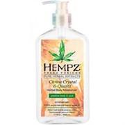 """Hempz Citrine Crystal & Quartz Body Moisturizer - Молочко для тела увлажняющее с мерцающим эффектом """"Желтый Кварц"""" 500мл"""