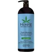 Hempz Triple Moisture Replenishing Shampoo - Шампунь Тройное увлажнение 1000мл